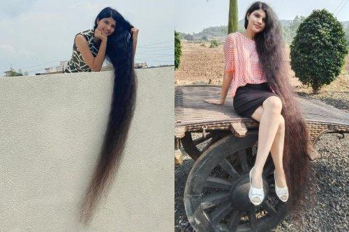 髮長2公尺破世界紀錄! 印度18歲真人版長髮少女 - 四方報