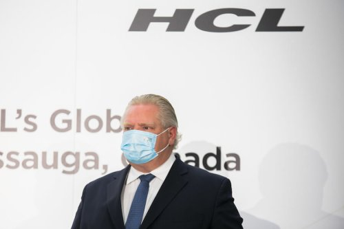 COVID mask falls off Doug Ford revealing his true colours