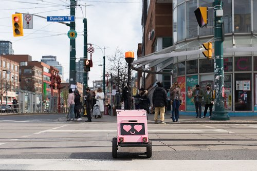 Who's behind Toronto's cute pink delivery robots?