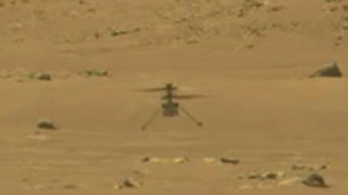 Success! NASA's Ingenuity Makes 1st Powered Flight On Mars