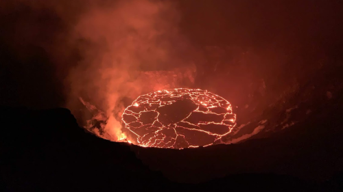 Hawaii's Kilauea Volcano Eruption Creates 600-Foot-Deep Lava Lake