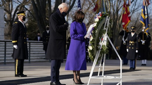 President Biden And Predecessors Attend Wreath Laying Ceremony At Arlington Cemetery