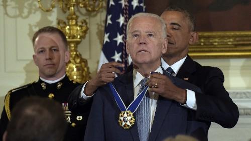 In A Surprise Send-Off, Obama Awards Biden Presidential Medal Of Freedom