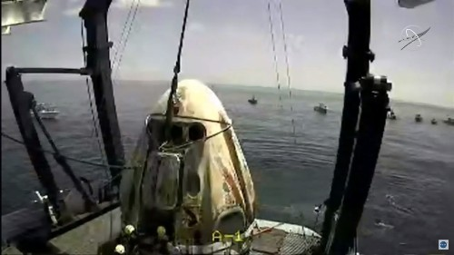 Splashdown! SpaceX And NASA Astronauts Make History