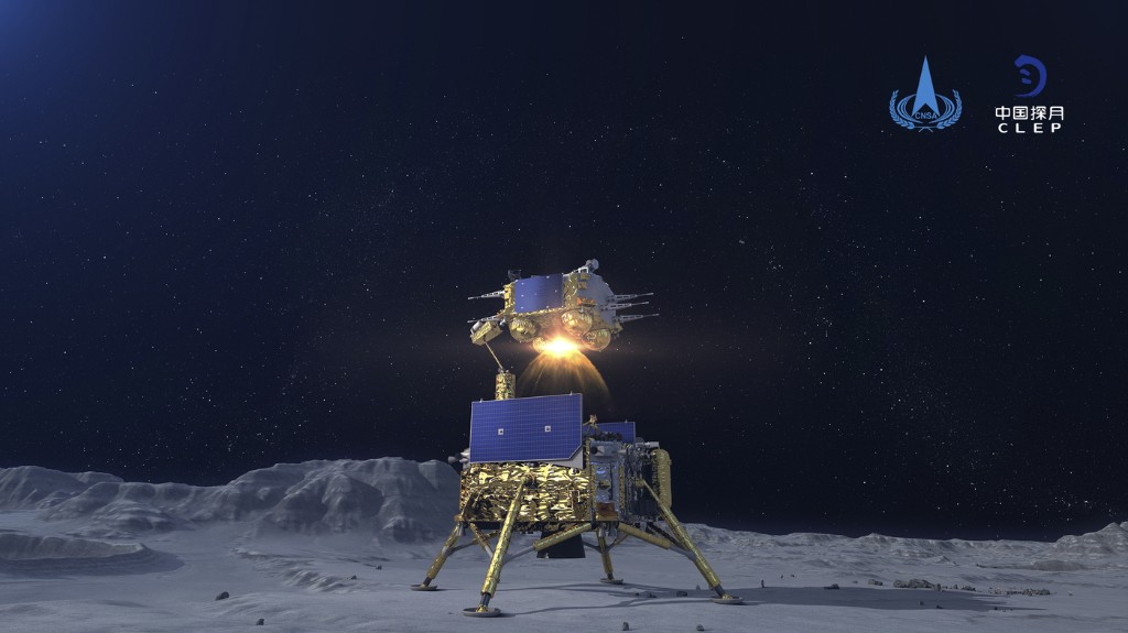 Chinese Chang'e-5 Is Returning From Moon With Rocks, Left A Flag To Celebrate