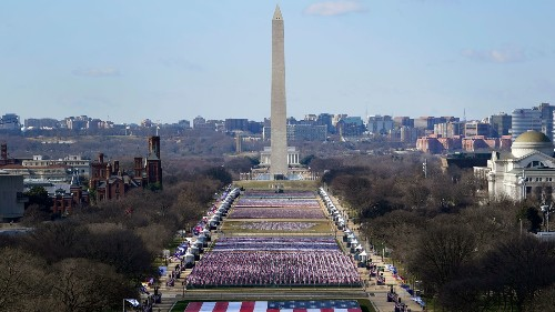 Nearly 200,000 Flags On National Mall Represent Those Who Cannot Attend Inauguration