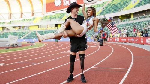 Meet Olympic Power Couple Hunter Woodhall And Tara Davis