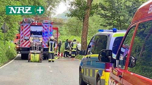 Tödlicher Unfall: Laupendahler Landstraße in Essen gesperrt