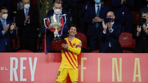 Uitblinker Messi noemt bekerwinst heel speciaal na 'moeilijk jaar'