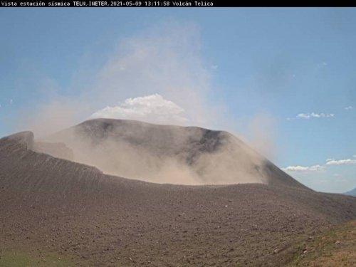 Volcán Telica mantiene exhalaciones de ceniza, sin peligro alguno