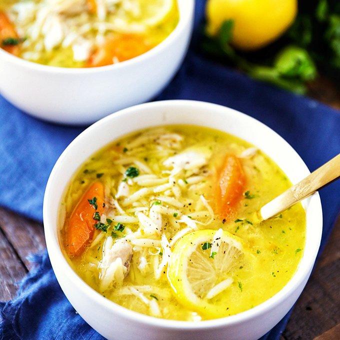 Instant Pot Lemon Chicken Orzo Soup Recipe