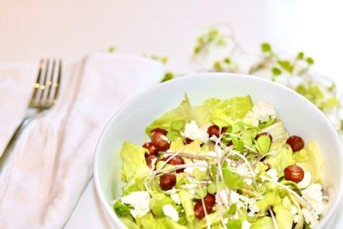 Goat Cheese Hazelnut Salad