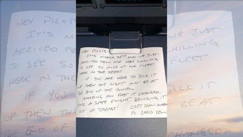 Delta pilot finds note in cockpit describing previous pilot's 'chilling' aircraft experience
