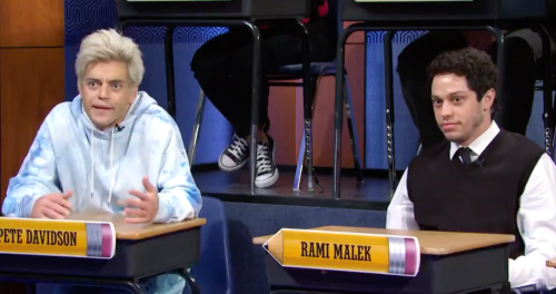 Watch Pete Davidson and Rami Malek Imitate Each Other on SNL
