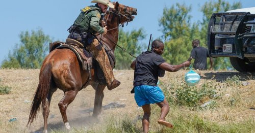 Border Patrol Agent Uses Whip to Chase Haitian Migrants Into Mexico