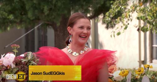 Drew Barrymore's Emmy Menu Has Something Called Jason SudEGGkis