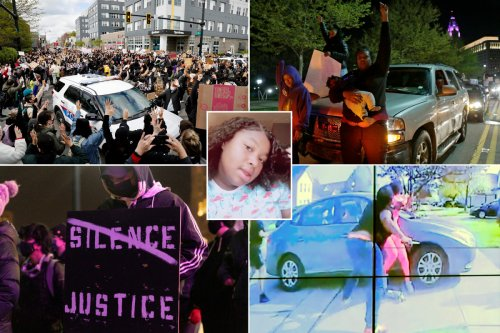 Over 100 protesters demonstrate against police shooting of Ma'Khia Bryant