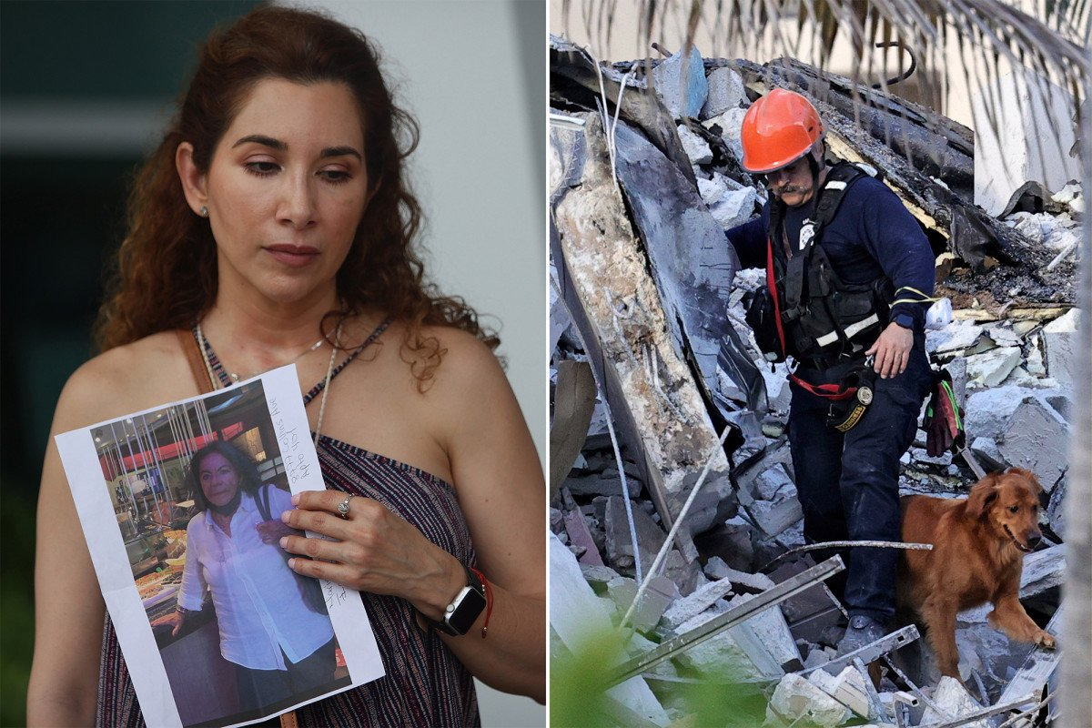 Building partially collapses near Miami Beach; search on for 99 missing, feared dead