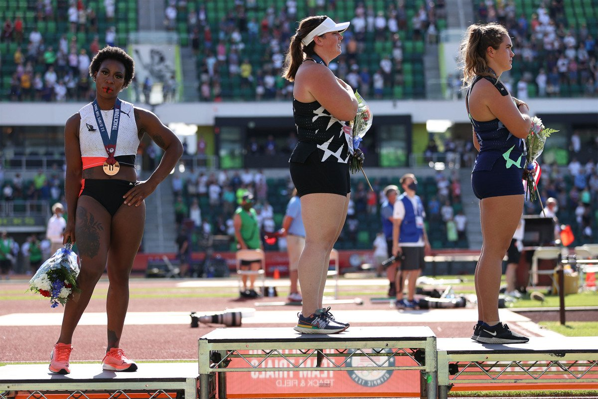 Olympic hammer thrower Gwen Berry 'pissed' national anthem was playing at Olympic trials