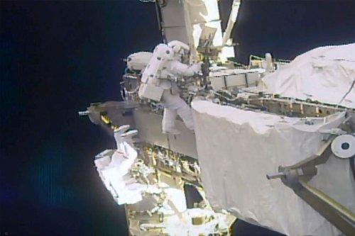 Astronauts install high-tech solar panels on ISS on daring spacewalk