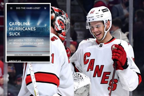 Hurricanes' website trolling Canadiens gets hacked: 'Not even a real team'