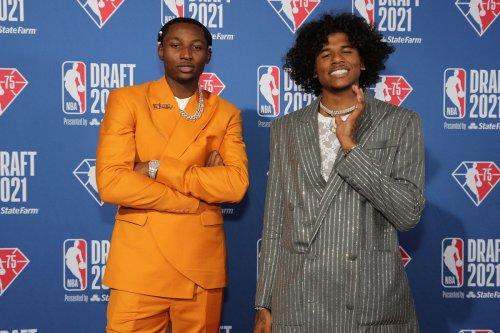 Jalen Green shines in Balmain and diamonds at the NBA Draft