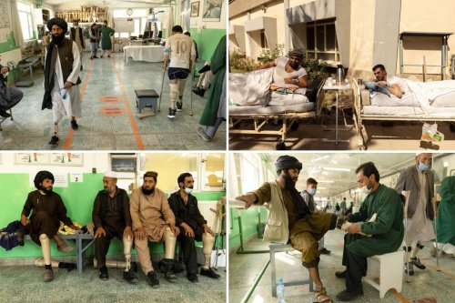 Taliban fighters and Afghan soldiers treated side-by-side at rehab center