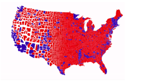 Forget traditional election maps — this is what the US vote really looks like