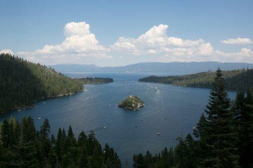 Lake Tahoe water level plummets, stranding fish and drying docks