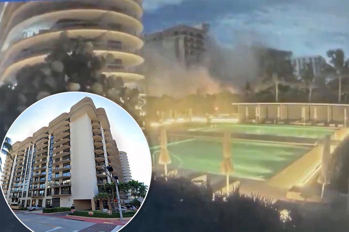 Shocking video shows moment condo near Miami Beach collapses