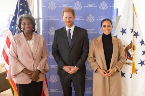 Prince Harry and Meghan Markle meet with US Ambassador to the United Nations