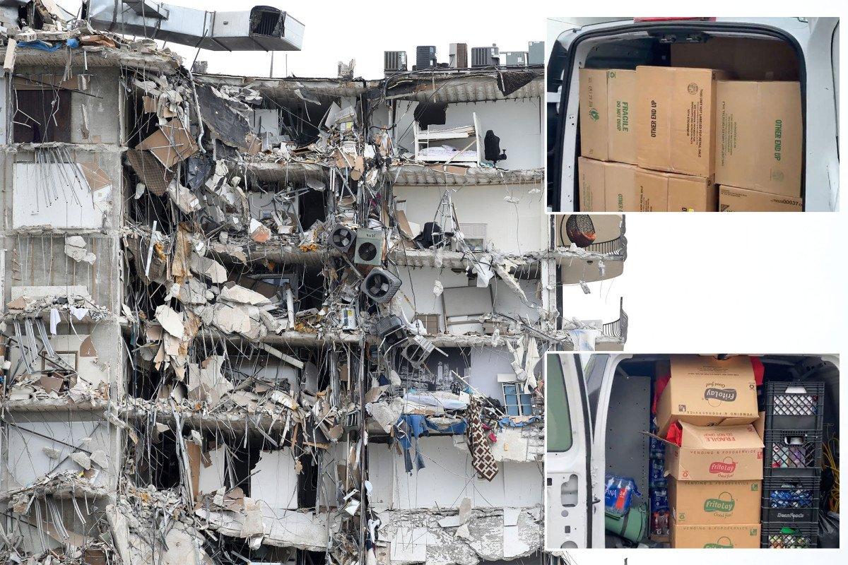 Miami Heat, Marlins deliver supplies to rescuers at Florida condo collapse
