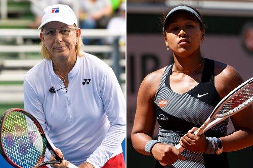 Martina Navratilova 'so sad' over Naomi Osaka's French Open withdrawal