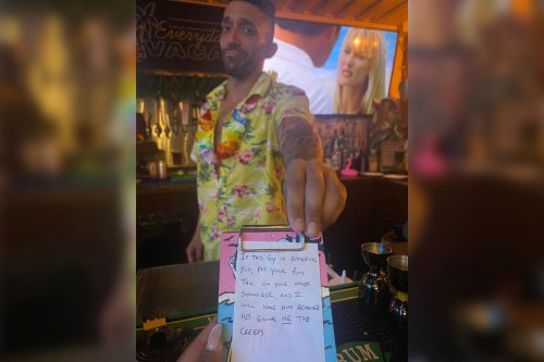 Bartender's fake receipt saves women from being hit on by 'creep'