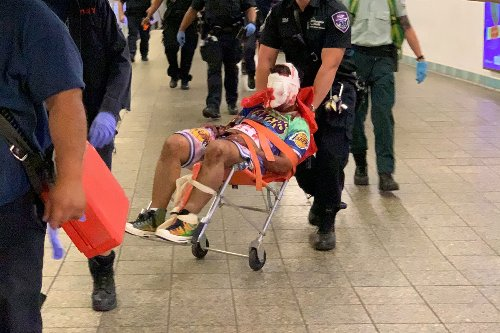 Man slashed on the head at Times Square subway station during evening rush
