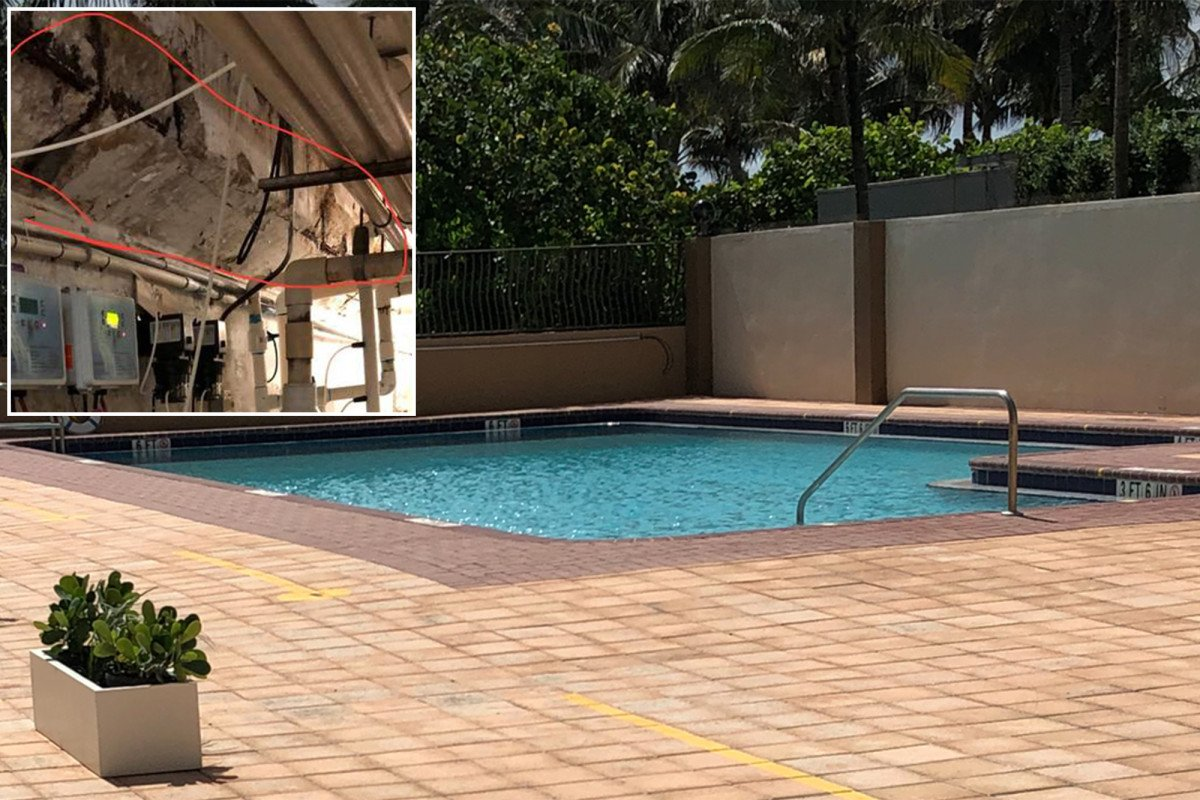 Pool contractor photographed damaged garage 36 hours before Florida condo fell