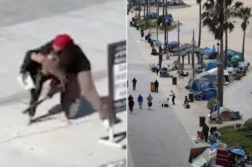 Venice Beach boardwalk in California is now 'dangerous' homeless encampment