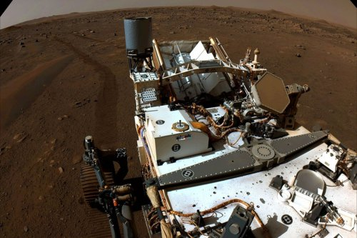 Mars images show Perseverance rover at work