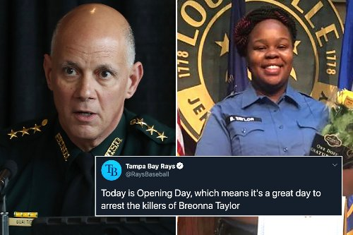 Florida sheriff blasts Tampa Bay Rays over 'reckless' Breonna Taylor tweet