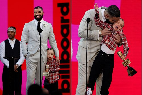 Drake's crying son Adonis throws a fit, steals Billboard Music Awards