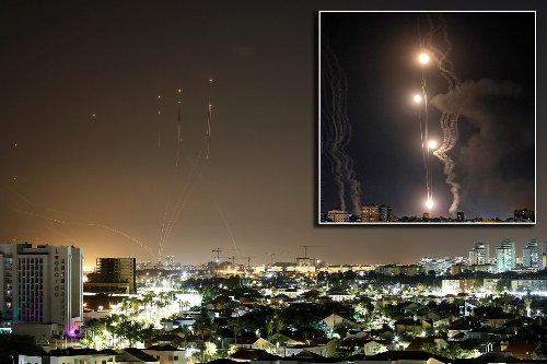 Barrage of rockets launched at Tel Aviv from the Gaza Strip