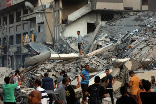 Dramatic videos show Gaza tower collapsing amid Israel-Hamas conflict