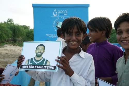 Kyrie Irving makes clean water in drought-ridden Pakastani village a reality