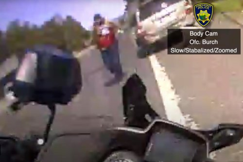 Video captures cop fatally shooting fleeing suspect on California highway