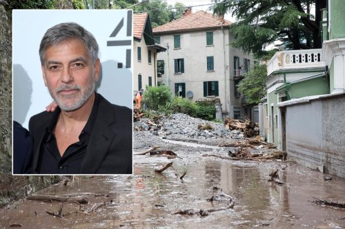 George Clooney caught in devastating floods that hit northern Italy