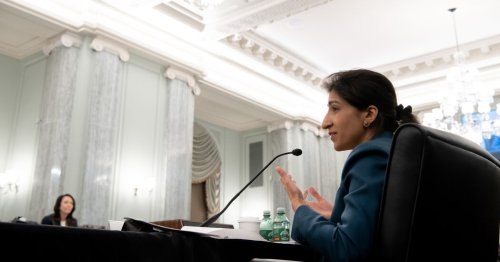 Lina Khan, a progressive trustbuster, displays get-tough approach to tech in confirmation hearing.