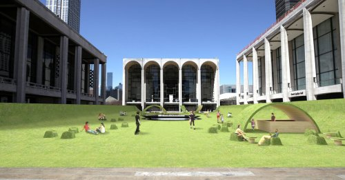 Lincoln Center's Plaza Is Going Green. Really.