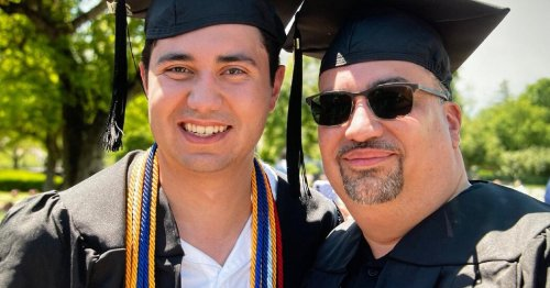 Man's Long-Delayed Quest for Degree Leads to Joint Graduation With Son