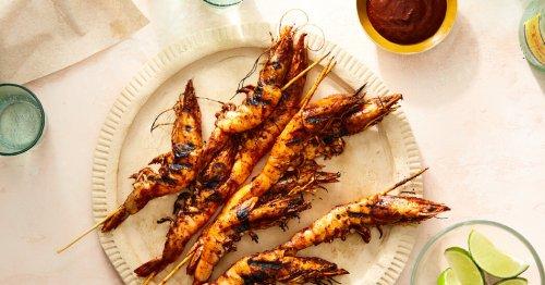 Camarones Embarazados: A Grilled, Head-On Shrimp Recipe From Puerto Vallarta