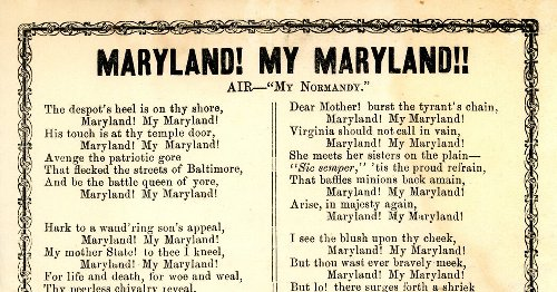Maryland's State Song, a Nod to the Confederacy, Nears Repeal